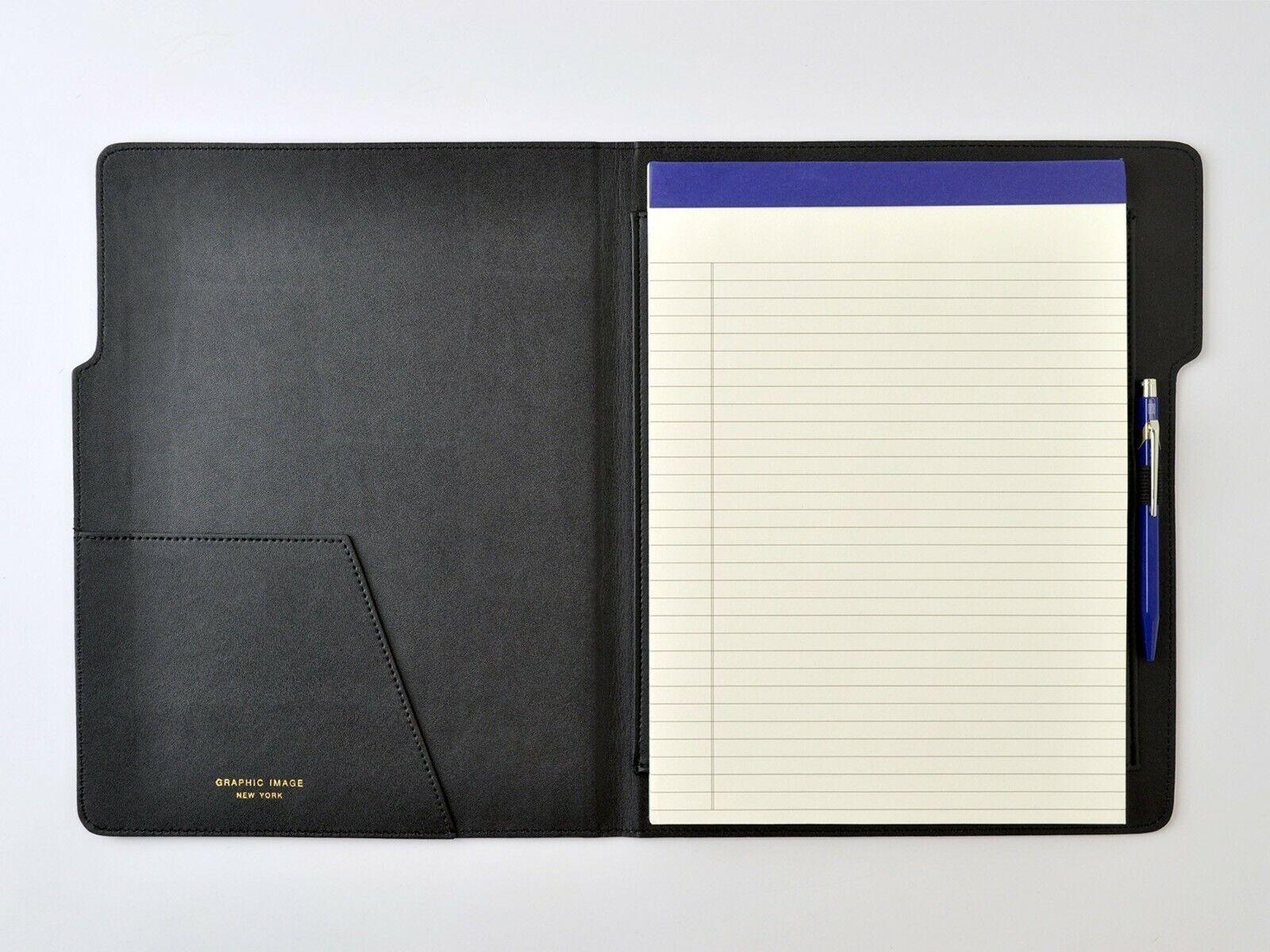"New Leather Portfolio 9x12"" Graphic Image Hugo Embossed Ring"