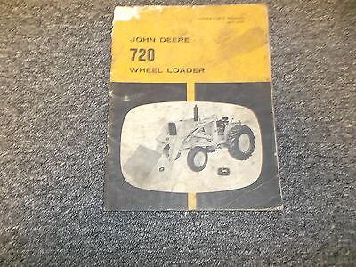 John Deere 720 Wheel Loader For 2010 3010 Tractor Owner Operator Manual