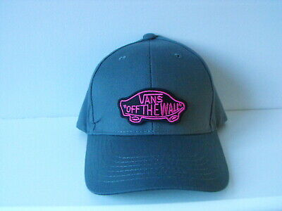 "Baseball Cool GREY Peak Cap + Street ""VANS-OTW"" Black/Pink  Embroidered Patch"