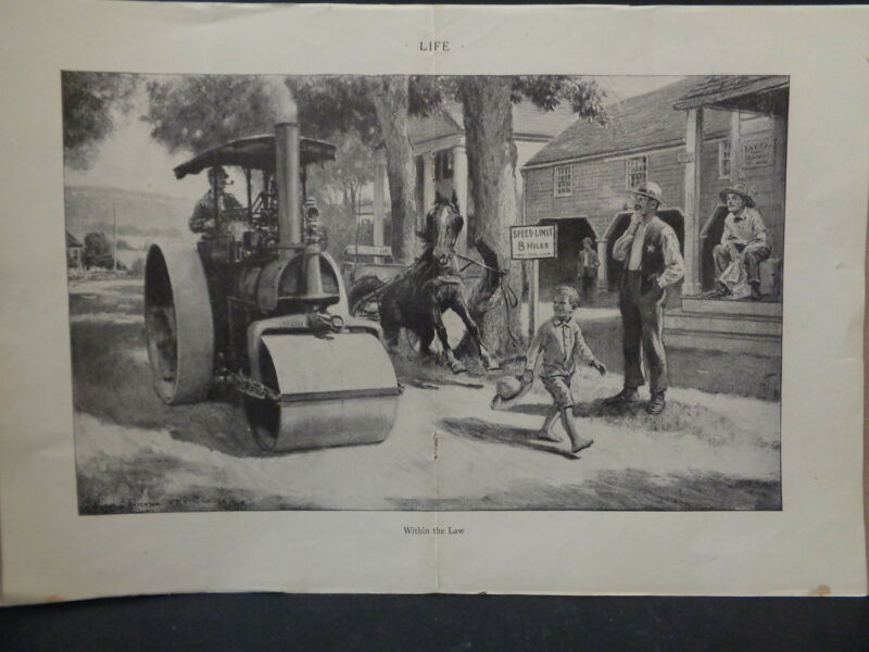 ORIGINAL OLD POLICE PRINT FROM LATE 1800