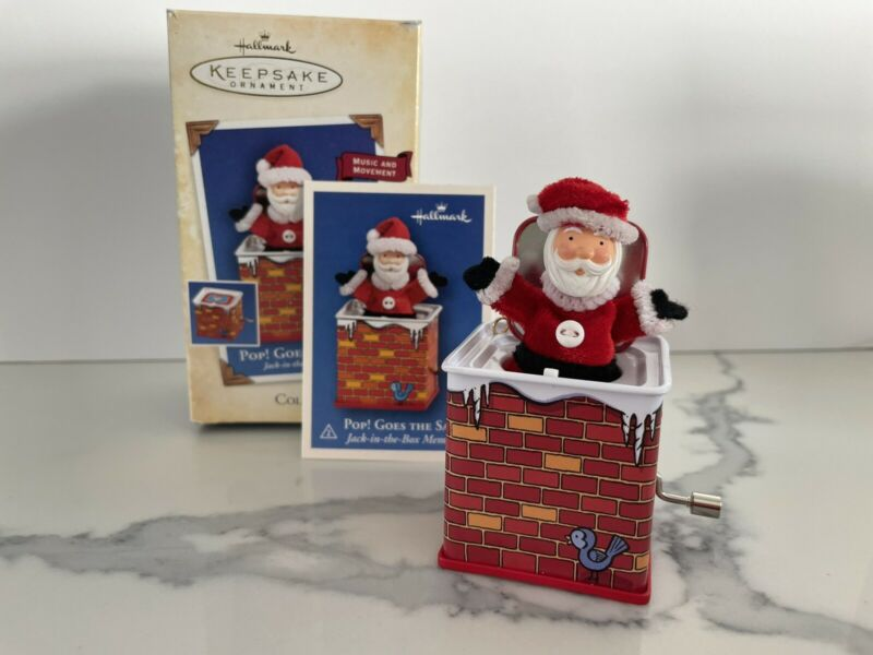 Hallmark Keepsake Music Movement Collectors Series Pop! Goes The Santa 2004