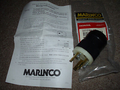 Honda Generator Plug 30 Amp 125 Volt Vac Plug Marinco Honda New 32312-880-710