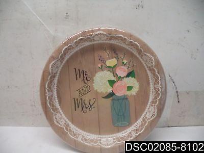 Qty= 11: Rustic Wedding Paper Plates Bridal Shower 8 Per Pack, 10