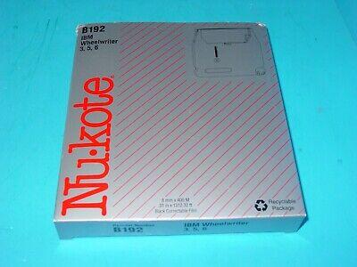 Nu-kote B192 Ibm Wheelwriter 3 5 6 Black Correctable Film Cassette