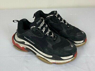 Balenciaga Triple S Sneakers Black Mens Sz 41