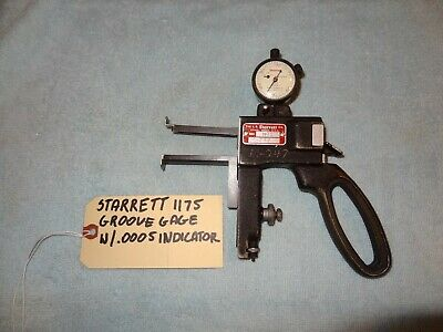 Starrett 1175 Groove Gage W .0005 Indicator