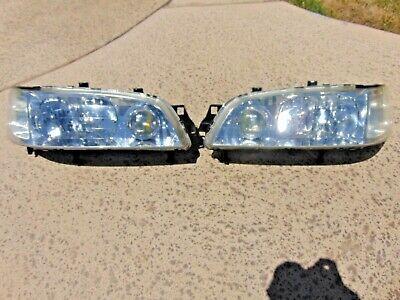 95-98 Acura TL Headlight Assemblies Restored Lenses LH & RH Both Tested OEM