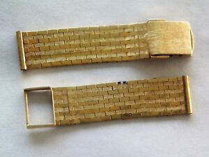 15.44mm GENERIC 14K SOLID YELLOW GOLD WATCH BAND