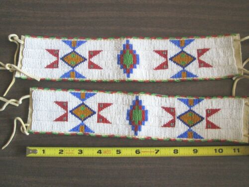 Plains Style Beaded Armbands  Reproductions