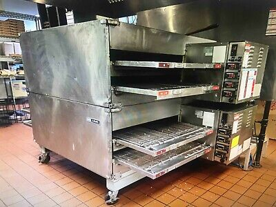 Lincoln Impinger X2 3262-2 Double Stack Nat Gas Commercial Conveyor Pizza Oven