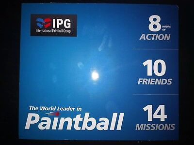 10 TICKETS PAINTBALL INTERNATIONAL PAINTBALL GROUP  + 1000 FREE BULLETS