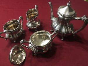 Reed & Barton tea and coffee set silver plated