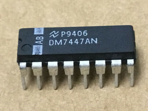 (2 PC)  NATIONAL  DM7447AN  DECODER/DRIVER, 16 Pin, Plastic, DIP