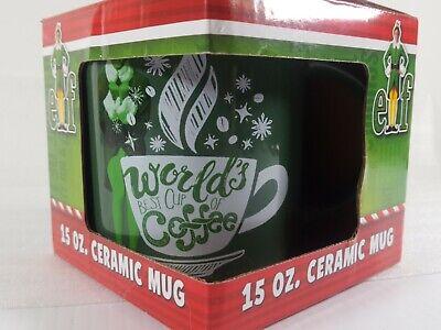 Will Ferrell Buddy Elf Movie World's Best Cup of Coffee Mug Green 15 oz New