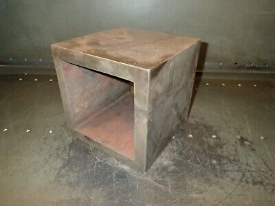 7.5 Cubed Machinist Hollow Box Parallel Setup Fixture Block Used Good Condition