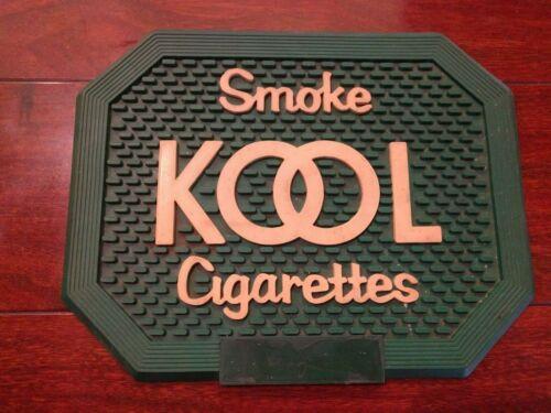 Vintage RETRO SMOKE KOOL CIGARETTES GREEN BAR MAT DRINKS GLASS DRAIN