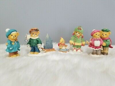 Cherished Teddies Christmas Bears Vintage Village Carlin Janay Marge Nell James