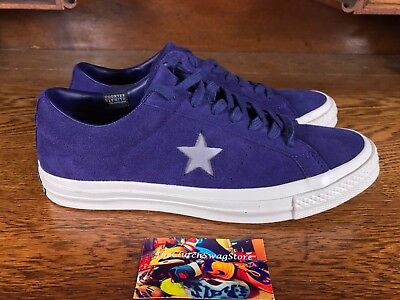 Converse One Star Suede Ox Mens Skate/Casual Violet/White Shoe NEW Size 9