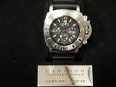 Mens SS Officine Panerai Luminor Submersible Chronograph Special Edition