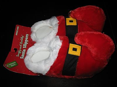 SANTA ELF SLIPPERS/SHOES ADULT SIZE - DANDEE - BRAND NEW !