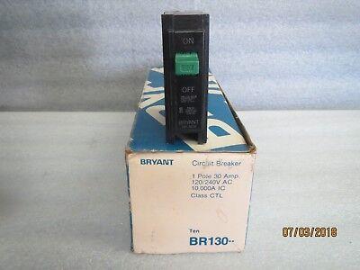 Bryant Circuit Breakers Single Pole 30 Amp-120240v Ac-new Lot Of 10