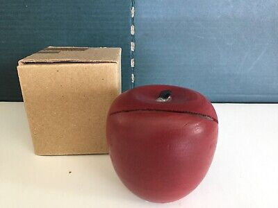 Wood Apple Business Card Holder Teachers Desk Grower Orchard Educator Place Card