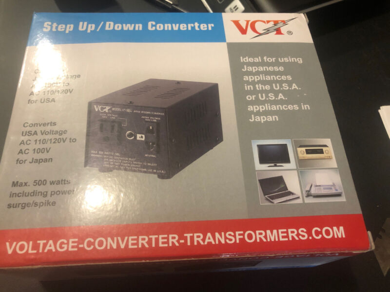 VCT VT-500J - Japanese Step Up/Down Voltage Transformer Converts Japan 100 Vo...