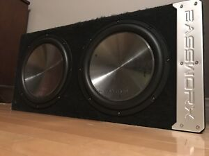 Two 12 inch Clairon Subwoofers, Amp and Box. $500 OBO.