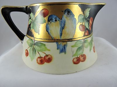Antique H & C  Bavaria Pitcher Hand Painted