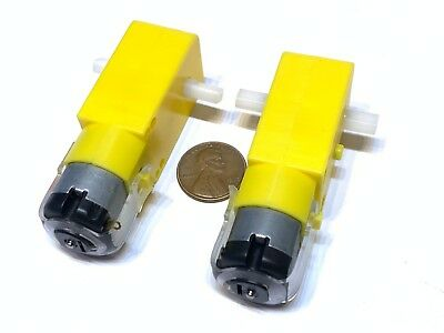 2 Pieces Rc Mini 3v 6v Dc 160ma 100rpm Dual Shaft Car Toy Reduced Gear Motor C13