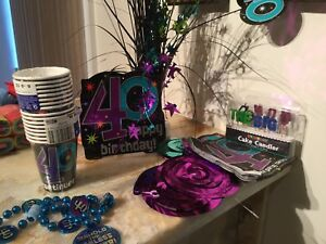 Party store supplies - 40th birthday