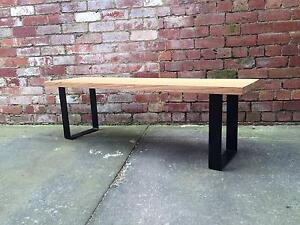 Outdoor Hardwood Timber Dining Bench- Made to Order Carlton North Melbourne City Preview