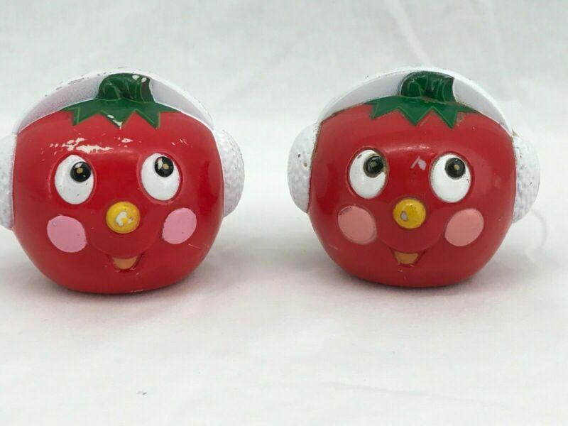 Vintage Hartin International Salt & Pepper Shakers Anthropomorphic Tomato