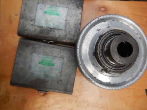JACOBS FLEX COLLET METAL LATHE CHUCK W/ L1 MOUNT &  2 CASES OF COLLETS
