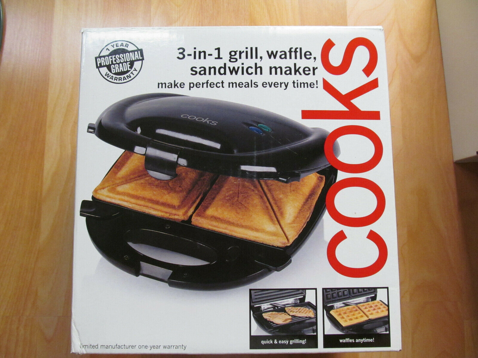 cooks 3 in 1 grill waffle sandwich