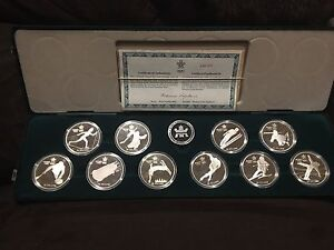1988 Olympic Silver Coin Set