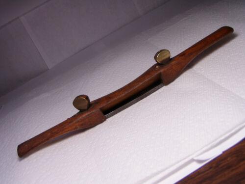 Antique Spoke Shave Draw Knife Woodworking Tool Vtg MARKED W Johnson Newark NJ