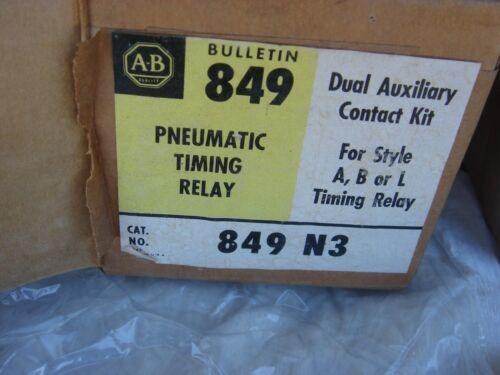 2 - ALLEN BRADLEY 849 N3 SER A PNEUMATIC TIMING RELAYS (NIB)