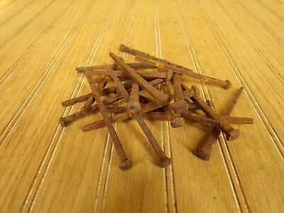"""20 ANTIQUE SQUARE NAILS 4 1/2"""" LONG FROM 1800's BARN FIND (RARE LENGTH)"""