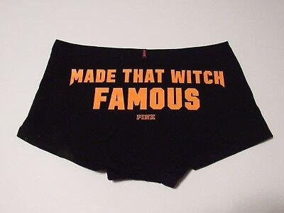 Victorias Secret PINK Underwear Low Rise Boyshort Halloween Panty Size Medium  - Pink Halloween Underwear