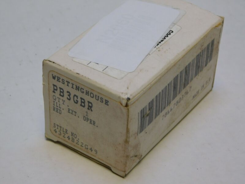WESTINGHOUSE PB3GBR PUSHBUTTON RED LENS / NOS