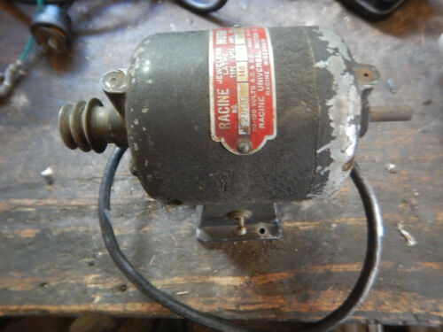VINTAGE RACINE JEWELERS LATHE MOTOR FORWARD AND REVERSE WITH A PULLEY