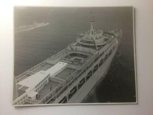 Original ss Canberra Cruise Liner Ship Photo San Francisco July 20th 1961