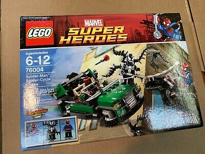 Marvel Super Heroes Lego 76004 Spiderman Spider Cycle Chase Sealed FREE SHIPPING