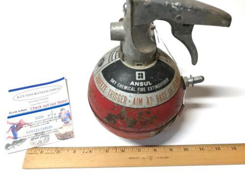 RARE ROUND Vintage Ansul DRY CHEMICAL Car Marine Fire Extinguisher USA Empty