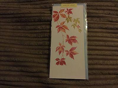 Gold leaf general birthday card