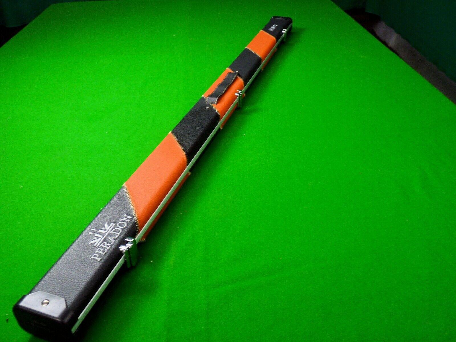 Peradon Halo 3/4 Jointed Snooker Cue Case Black/Orange Striped