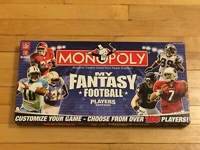 Nfl Monopoly 2007 My Fantasy Football Player Edition Game