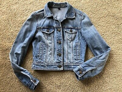 Jean Jacket Size small American Eagle POLY COTTON SPANDEX Button Up Women's