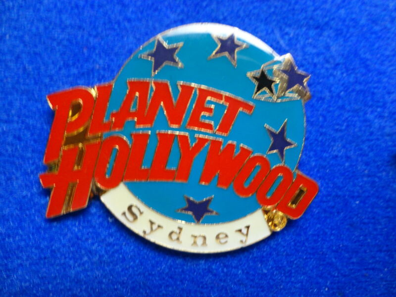 Sydney Australia Planet Hollywood Blue Planet with Stars Logo PH Lapel Pin z3
